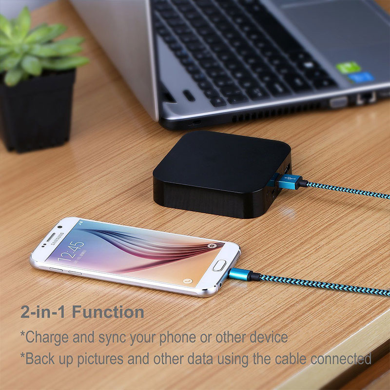 35DB-1M-Type-C-USB-Charger-Charging-Data-Sync-Nylon-Braided-Cable-Lead-Wire