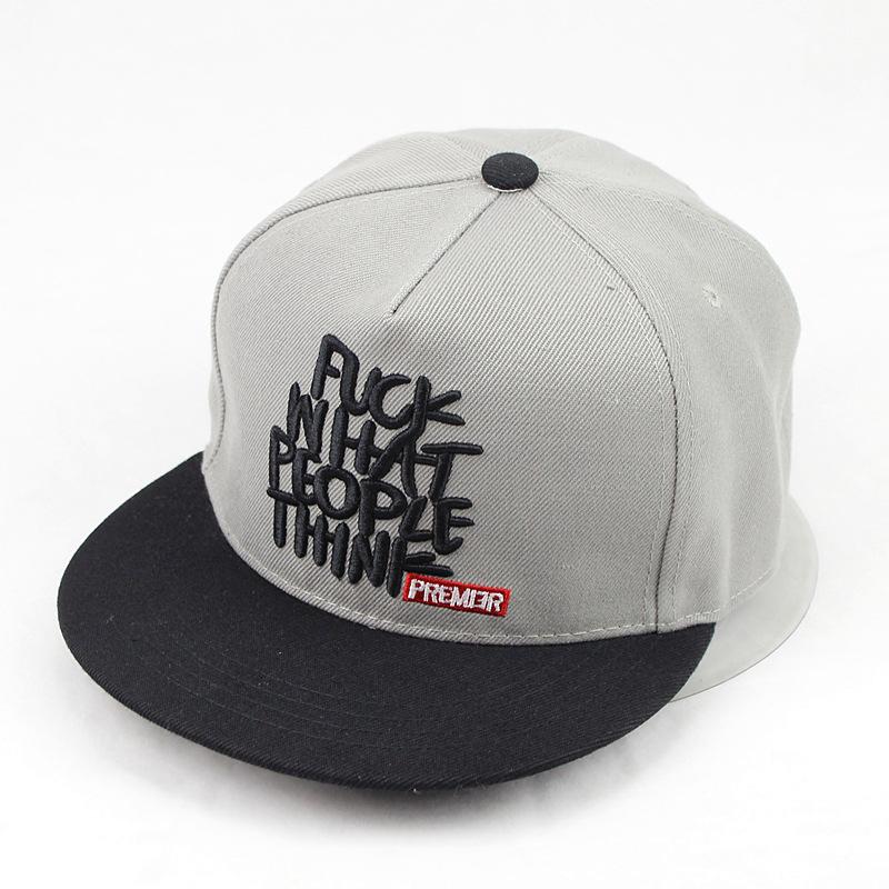 8138-Fashion-FUK-WHAT-PEOPLE-THINK-Bboy-Brim-Baseball-Cap-Snapback-Hip-Hop-Hat