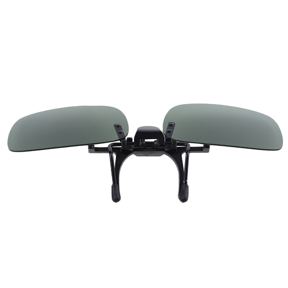 9B31-Dark-Polarized-Lenses-Flip-Up-Clip-On-for-Sunglasses-UV400-Outdoor-Driving