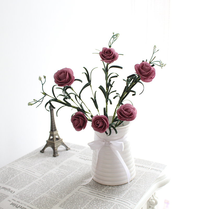 2C89-6-Heads-Rose-Simulation-Artificial-Flower-Plant-Wedding-Party-Office-Home