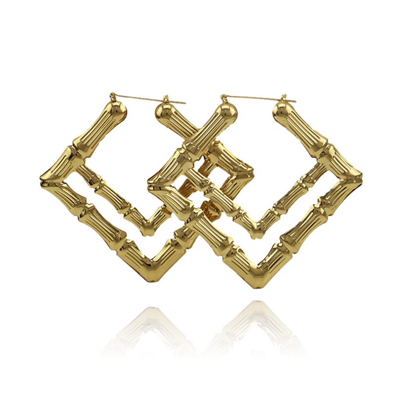 E733-Women-Oversized-Bamboo-Hoo-Dual-Square-Metal-Earrings-Personality-Gift