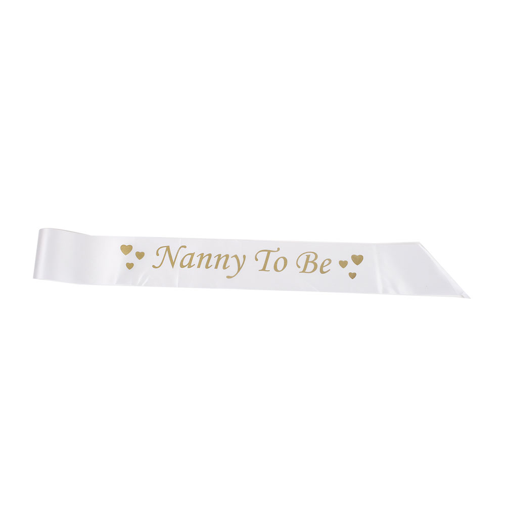 170C-Sash-Banner-Teddy-Ribbon-Baby-Shower-Wedding-Party-Favor-White-Gold-Free