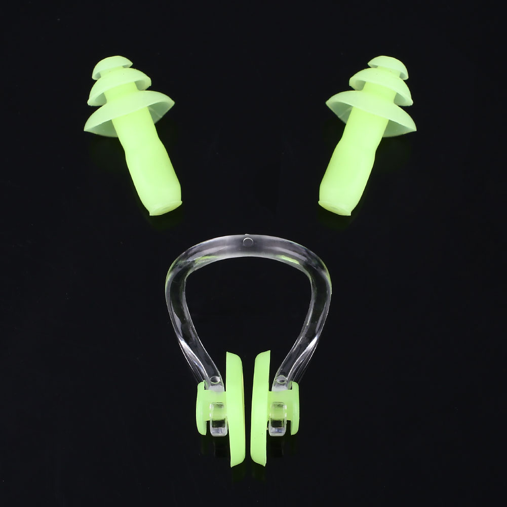 Soft-Silicone-Anti-Water-Earplugs-Earbud-Nose-Clip-Swimming-Waterproof-Kit-9D98