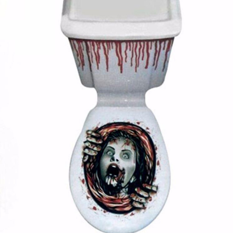 3E13-Halloween-Scary-Horror-Toilet-Sticker-Prop-Home-Bathroom-Decor-Decoration