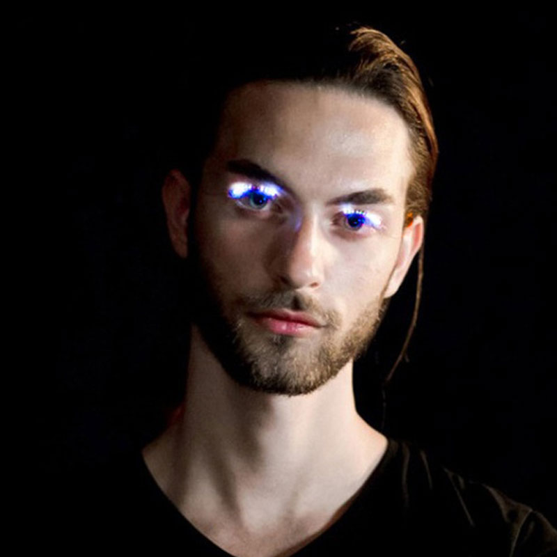 ACE4-Women-Flashes-LED-False-Eyelashes-Electronic-Waterproof-Fake-Eyelashes