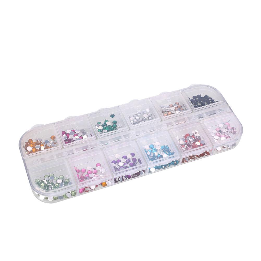 8329-Nail-Art-Technician-3000Pcs-Box-Round-Diamonds-DIY-Tool-Cosmetic-Decor