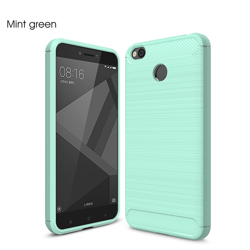 F5CF-For-Xiaomi-Redmi-4X-Brushed-Shockproof-Carbon-Fiber-Case-Soft-Rubber-Cover
