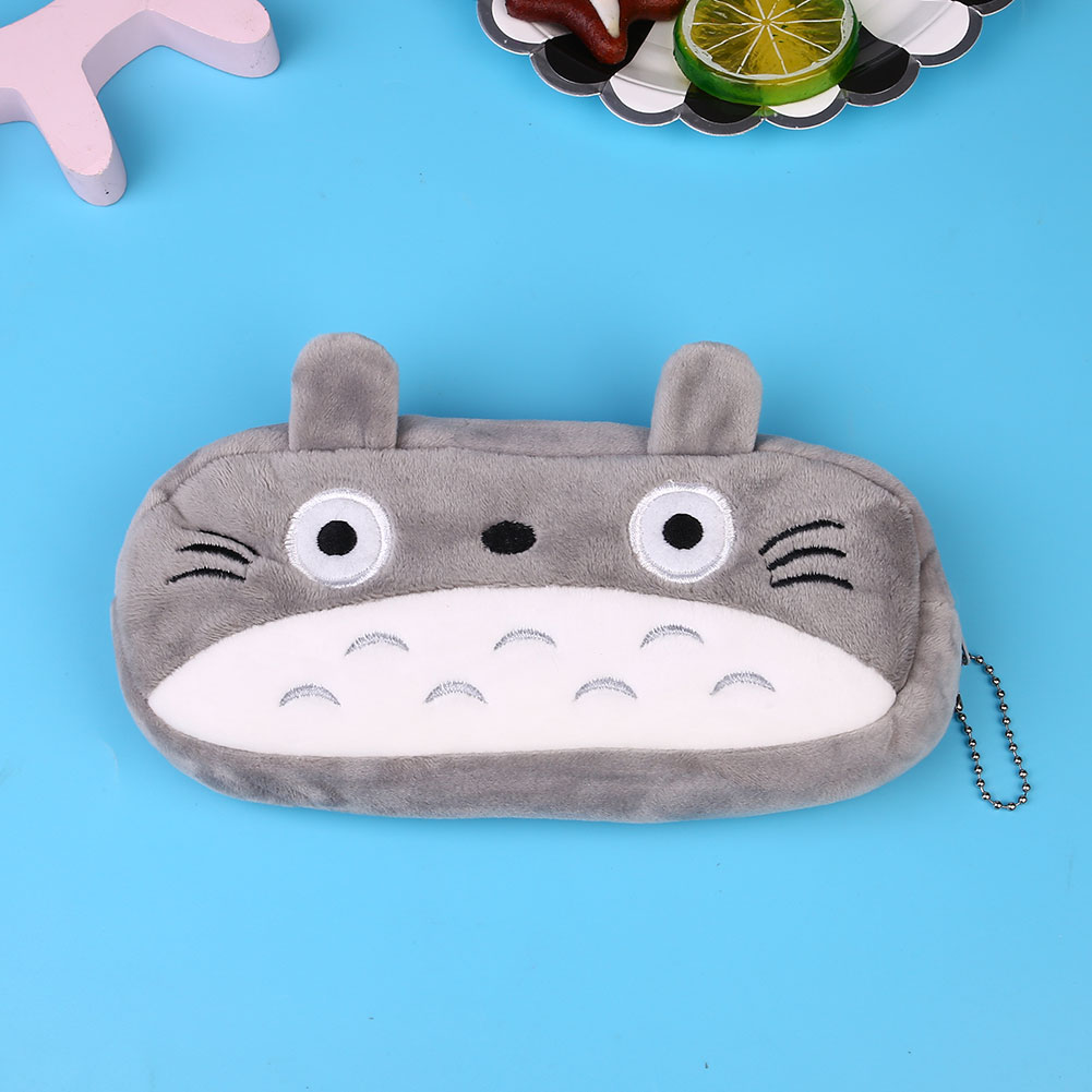 0152-Cute-Cartoon-Plush-Pencil-Case-Cosmetic-Bag-Container-Student-Stationery