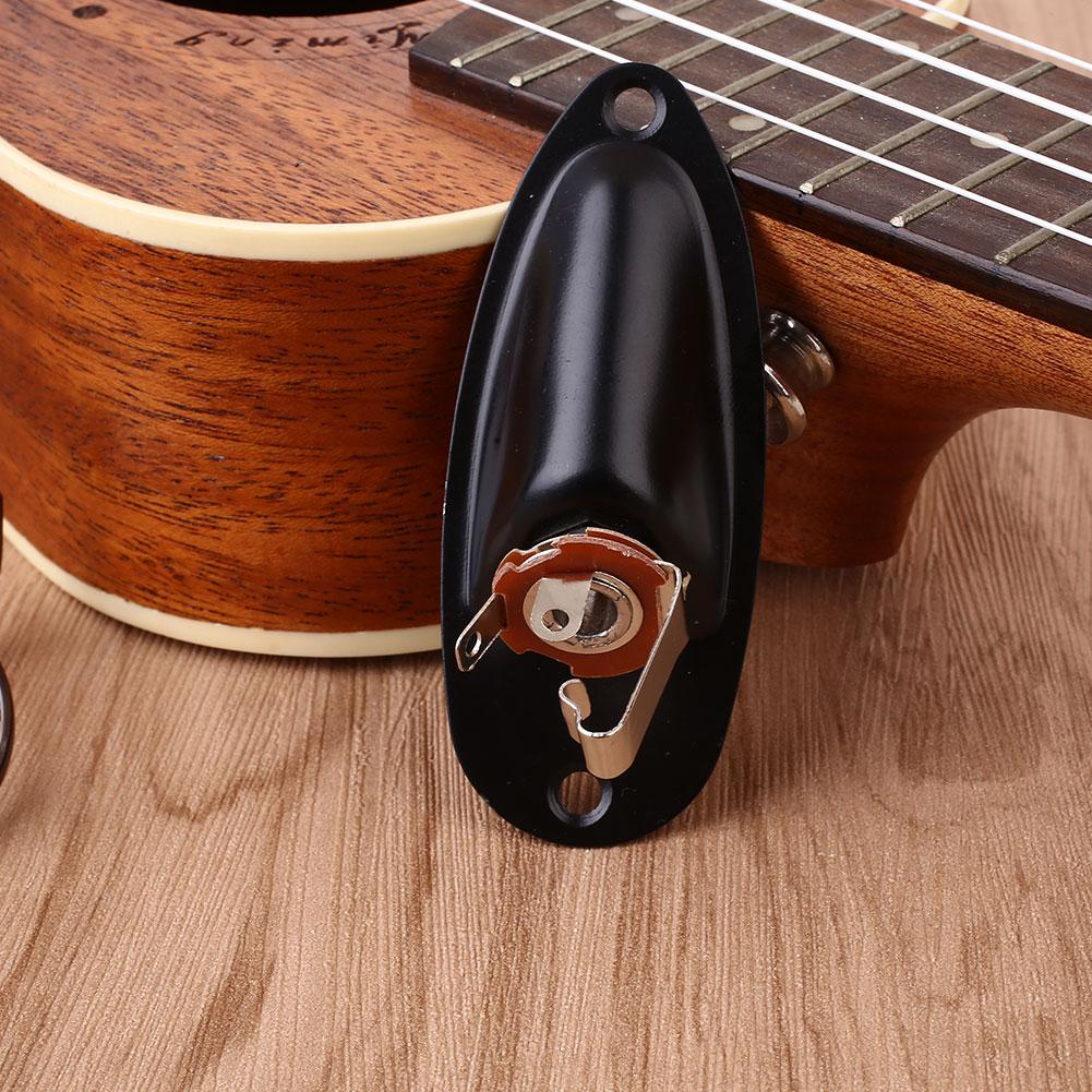 75E5-Electric-Guitar-Input-Jack-Plate-Socket-Plug-Boat-Shaped-Metal-For-START