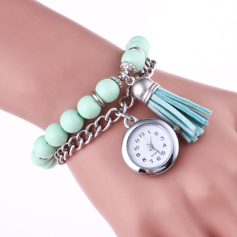 Fashion-Bead-Chain-Tassel-Watch-Wristwatch-Quartz-Watch-Women-Colorful-4B1F