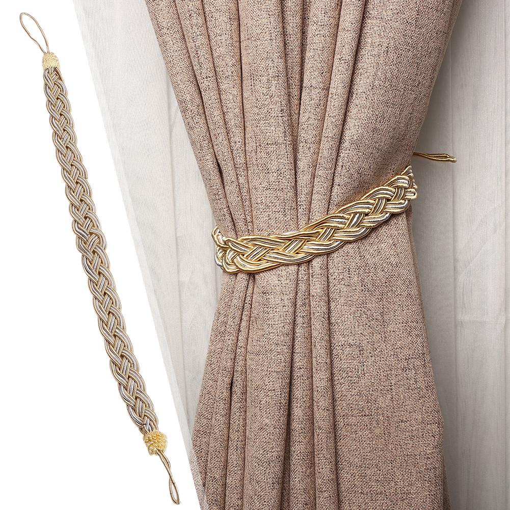1 Pair Of Braided Tiebacks Tie Back Rope Curtains
