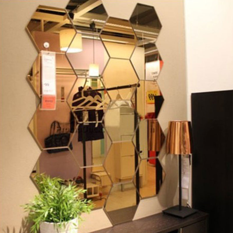 A18A-12Pcs-3D-Hexagon-Mirror-Decal-Acrylic-Wall-Stickers-Mural-Art-Decoration