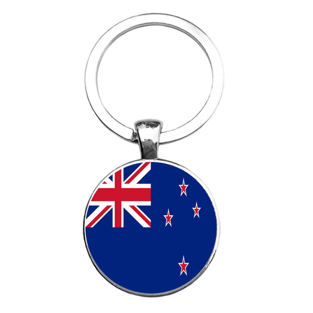 01E9-Flag-Pattern-Key-Metal-Round-Pendant-Fashion-Keychain-Keyring-Expression