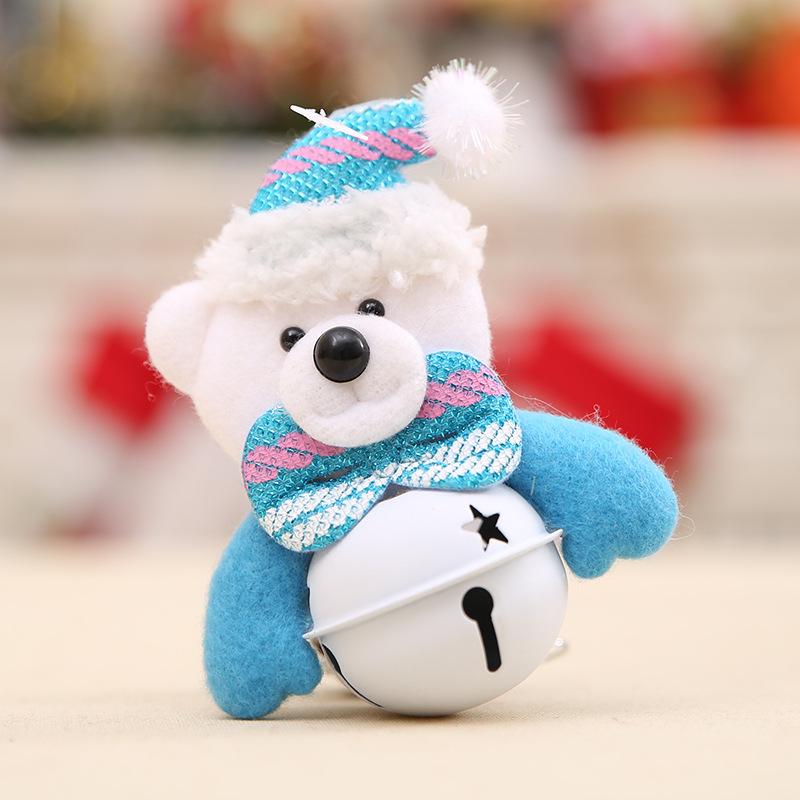 49E9-Christmas-Tree-Hanging-Ornaments-Santa-Snowman-Bear-Doll-Xmas-Bell-Pendant