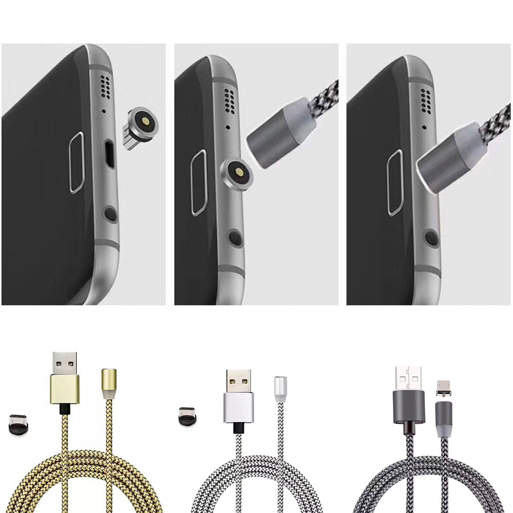26D4-Braided-Magnetic-Micro-USB-Charger-Charging-Cable-For-Android-Phone