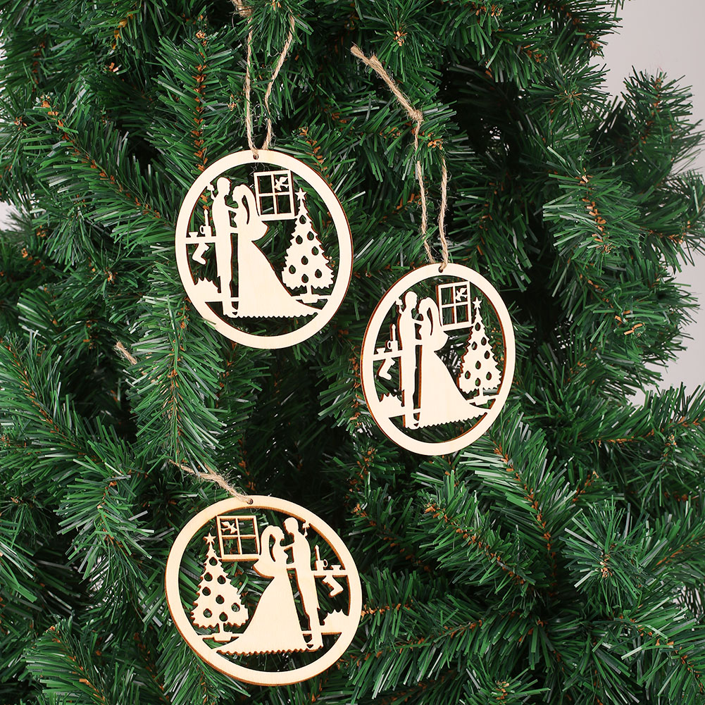 1BF1-5pcs-Wooden-Stag-Christmas-Tree-Hanging-Pendant-Decorations-Craft-Gift-Set