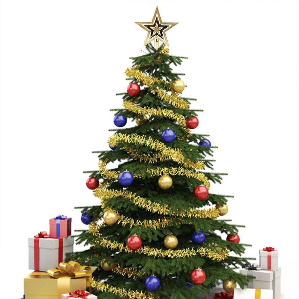 3C3D-Christmas-Tree-Decorative-Golden-Topper-Star-Xmas-Festival-Ornament-Decor