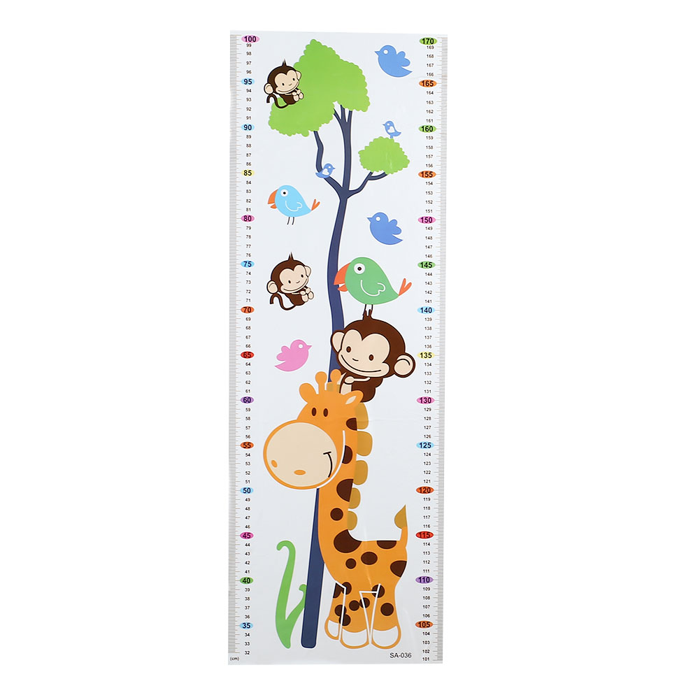 B2AB-Kids-Children-Height-Chart-Wall-Sticker-DIY-Removable-Decals-Nursery-Ruler
