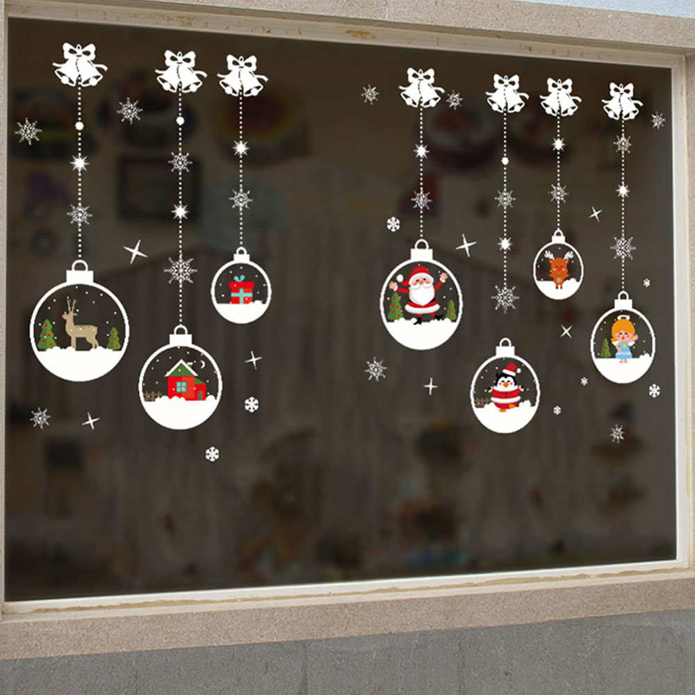 Christmas Snow Ball Removable Vinyl Window Door Wall ...
