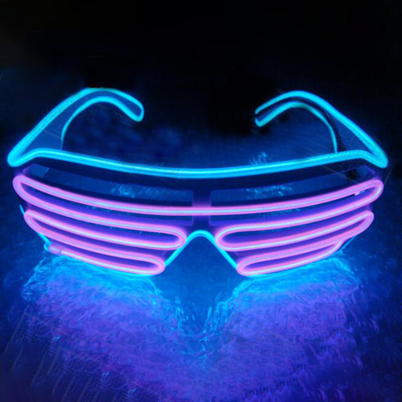 E78B LED Light Up Crazy Luminous Flash Glasses Charming Eyeglass Colorful Fun