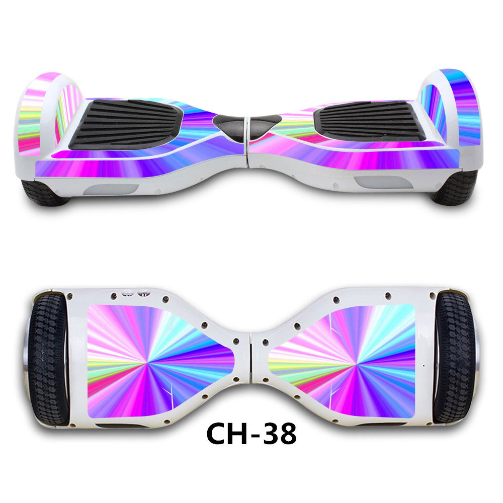 Fashion decal wheel hoverboard skin sticker paster self - Silla para hoverboard ...