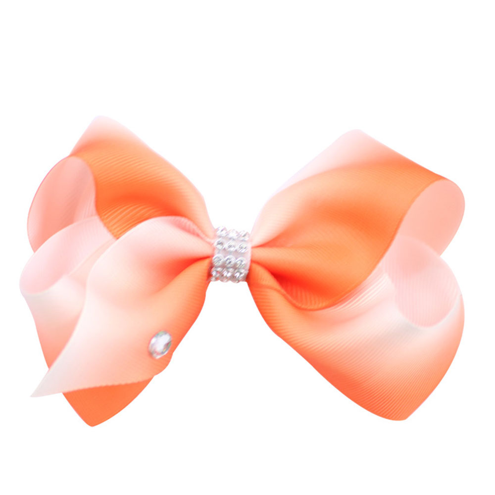 227B-Fashion-Girl-Baby-Rainbow-Diamond-Hair-Clips-Ribbon-Tiebow-Bow-Hairpin