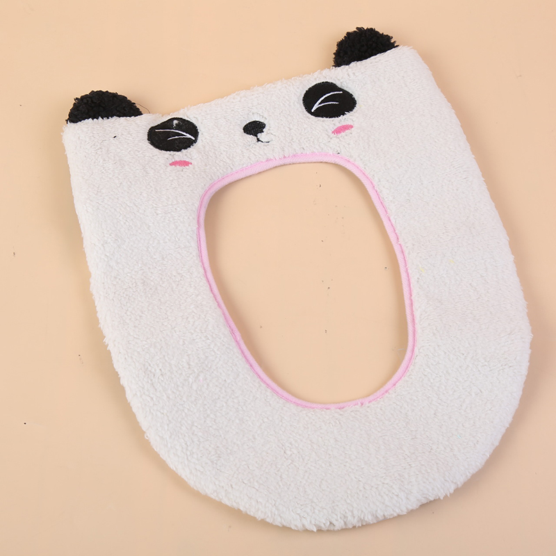 0514-Lovely-Toilet-Seat-Cover-Decoration-Set-Soft-Closestool-Top-Cover-Bathroom