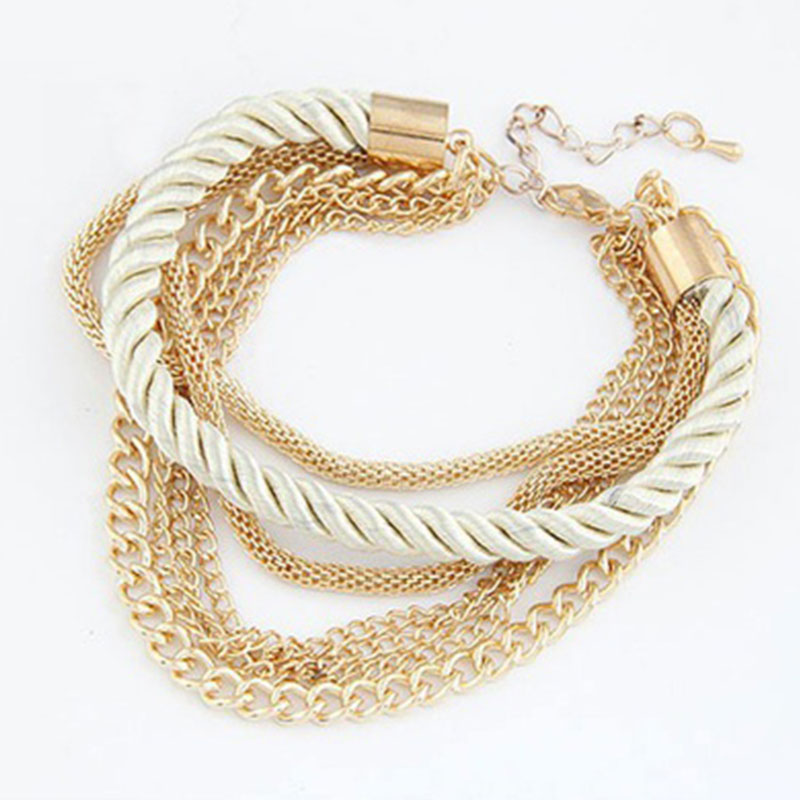 2247-Silver-Bangle-Chain-Multilayer-Elegant-Charm-Bracelet-Party-Jewelry-Gifts
