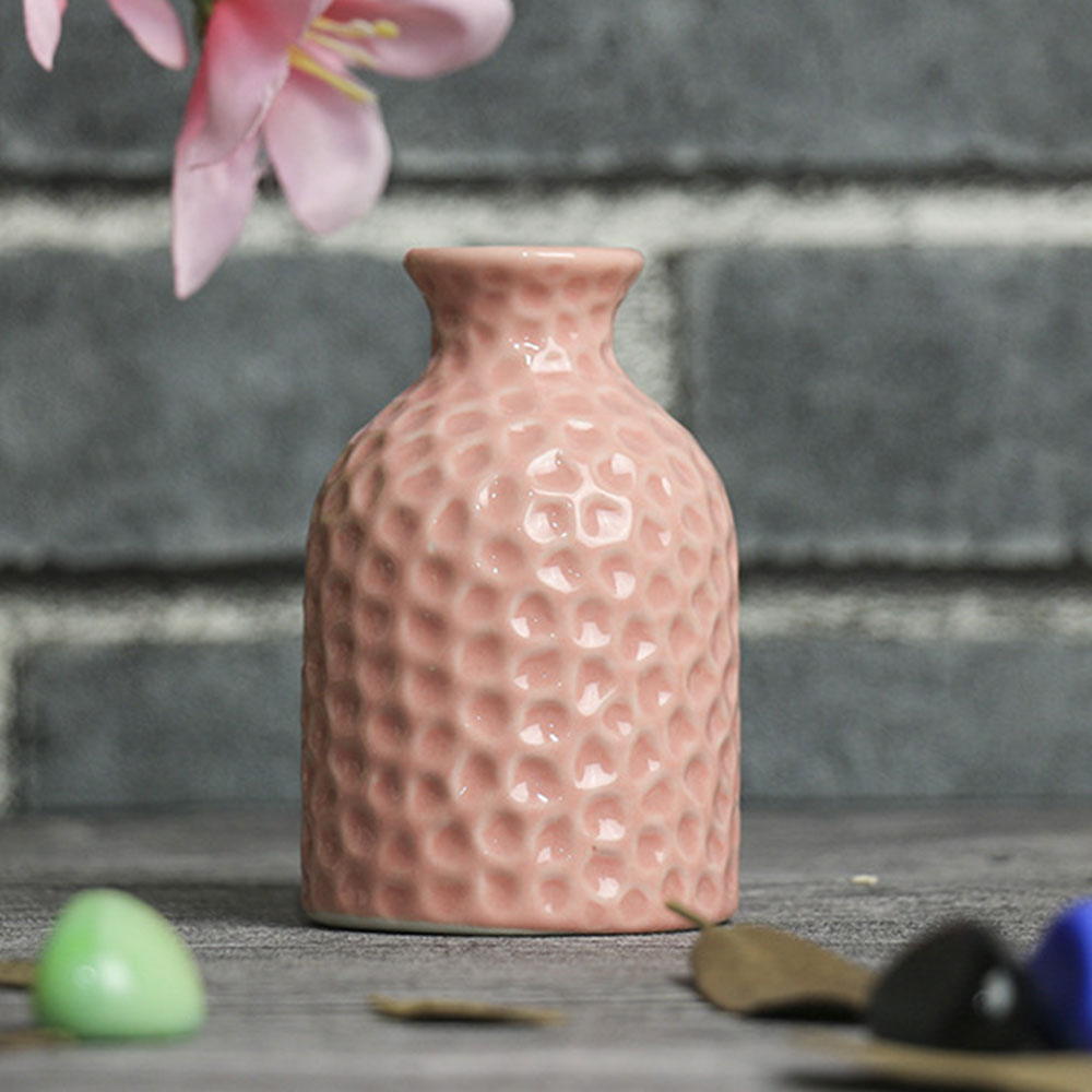 CD9B-Glaze-Dot-White-Ceramic-Craft-Flower-Vase-Porcelain-Minimalist-Decoration