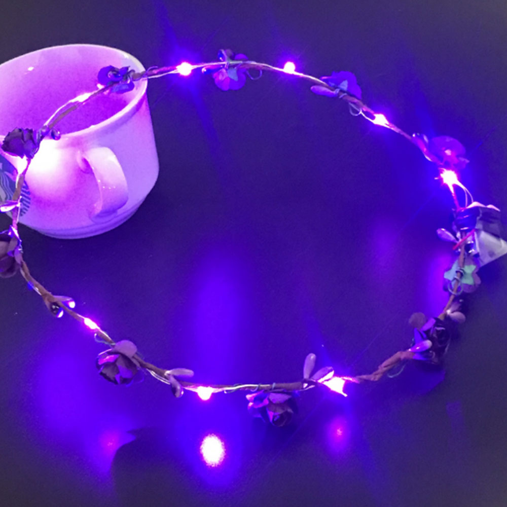 9053-LED-Wreath-Flower-Headband-Accessories-Crown-Floral-Garland-Wedding-Hair
