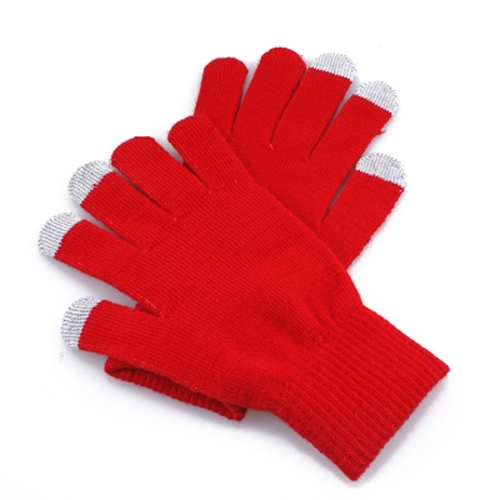 Rote Unisex kapazitiver Touch Screen Handschuhe für iPhone 4 5 ipad mini