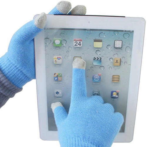 Blaue Unisex kapazitiver Touch Screen Handschuhe für iPhone 4 5 ipad mini