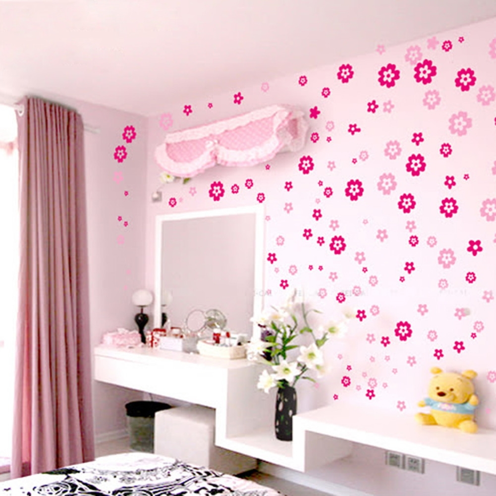 Multi Colors Flowers Butterflies Wall Stickers Home Decor Wall Decal Art
