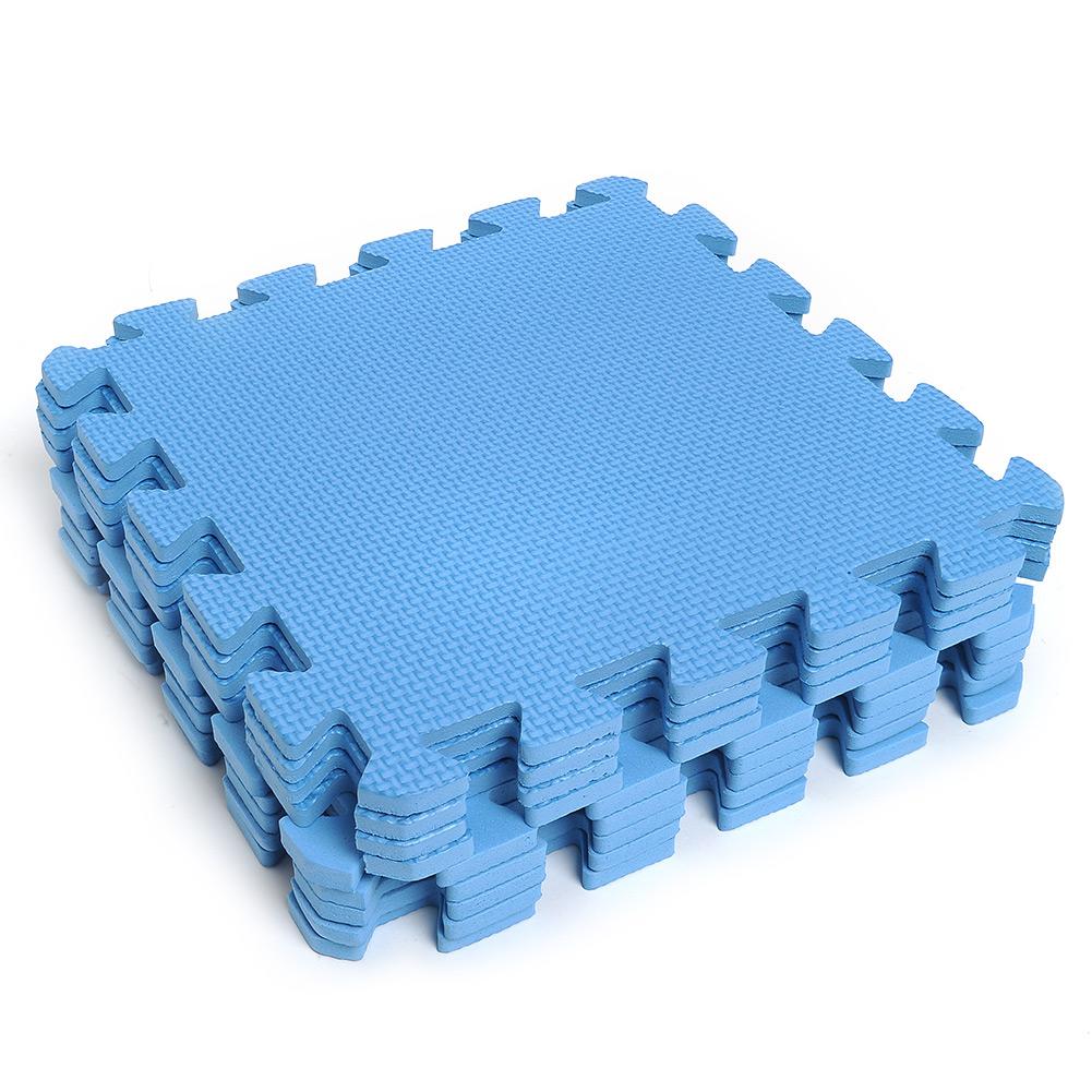 9pcs interlocking puzzle foam floor mats squares tile kids for Foam flooring