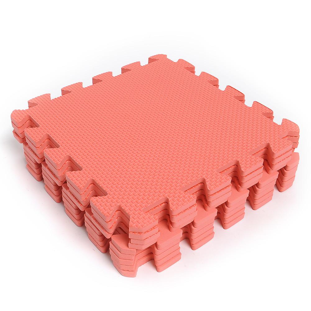 9pcs Interlocking Puzzle Foam Floor Mats Squares Tile Kids