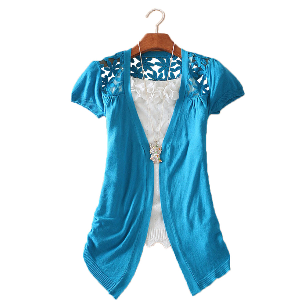 New Ladies Fashion Lace Crochet Knit Blouse Coat Sweater Cardigan Shirt