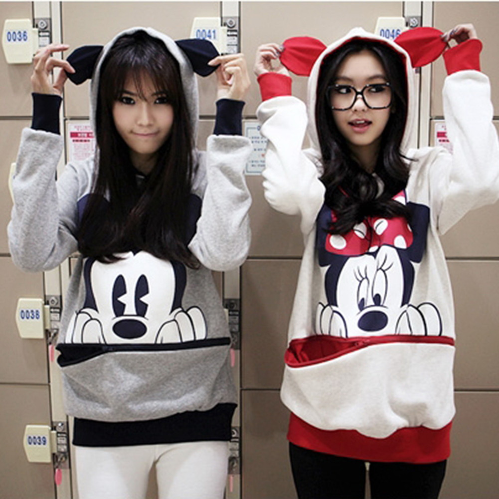 Cute-Girls-Womens-Mickey-Minnie-Mouse-Ear-Emo-Sweater-Shirt-Jumper