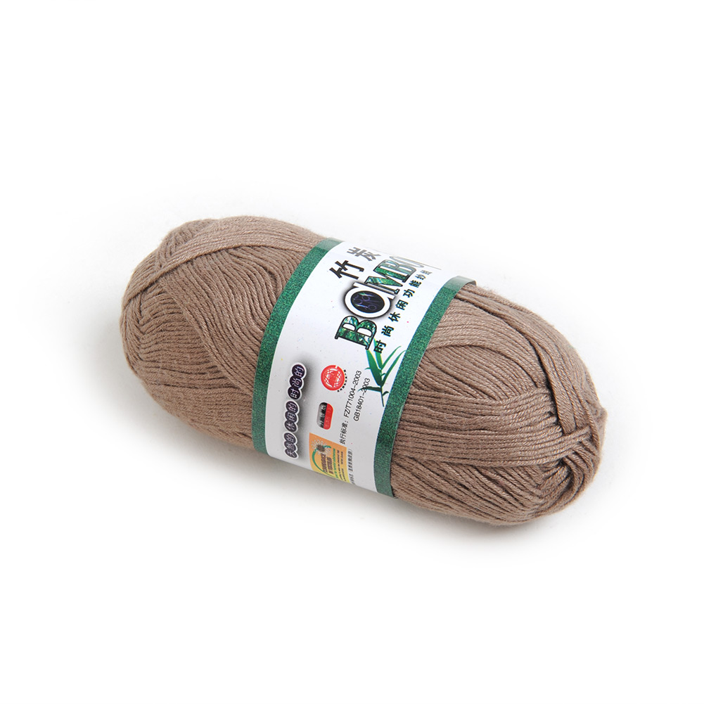 Soft Useful Knitting Yarn Natural Bamboo Cotton Skein High Quality 50g