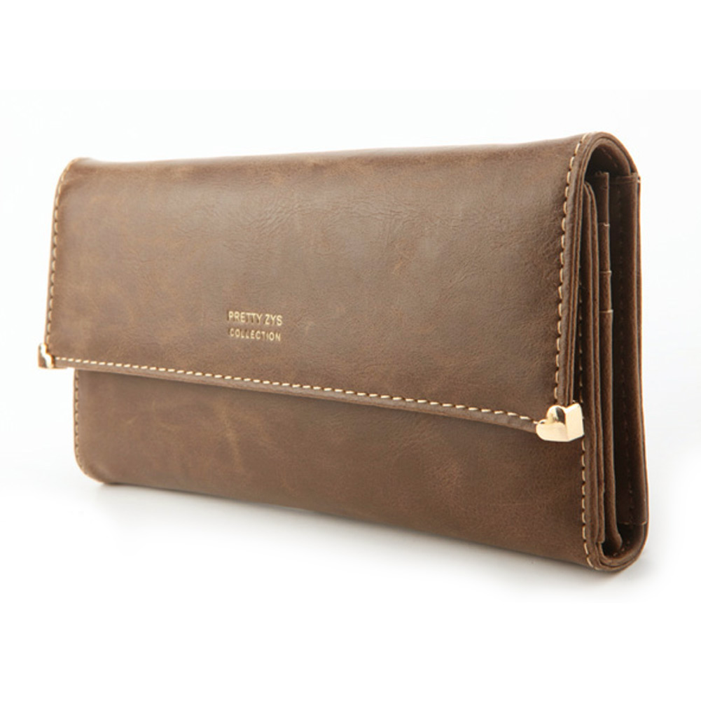 Womens-New-Fashion-Clutch-Matte-Leather-Wallet-Lady-Card-Purse-Handbag