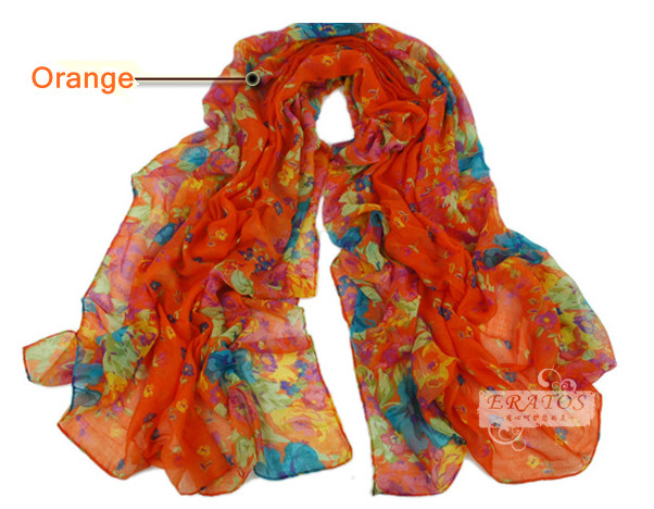 Elegant Fashion Womens Ladies Floral Flower Scarf Shawl Wraps  Scarves