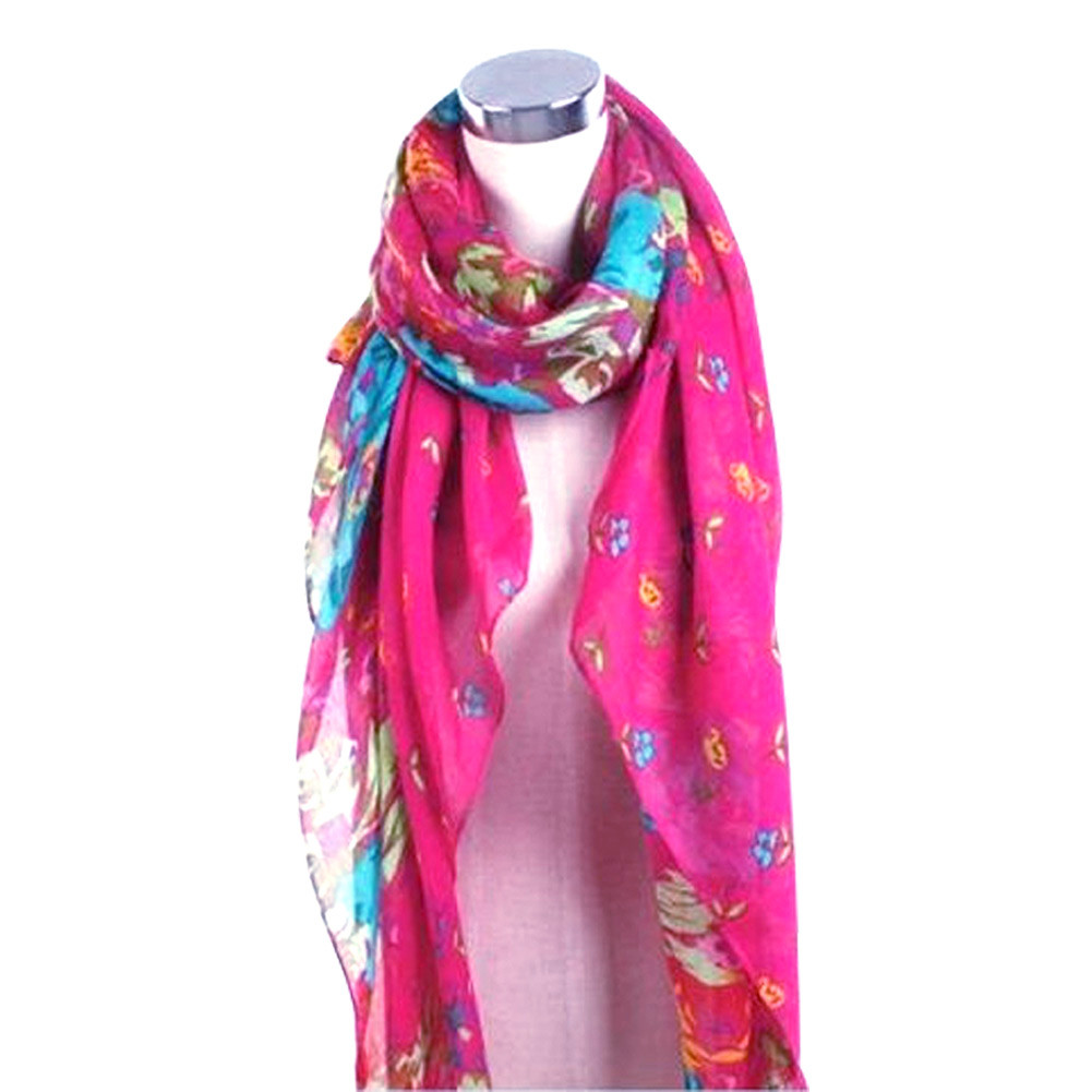 Elegant-Fashion-Womens-Ladies-Floral-Flower-Scarf-Shawl-Wraps-Scarves