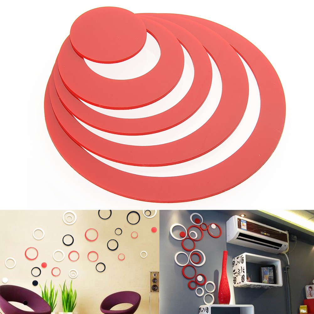 Nice 3d circles round diy art wall sticker wall home decor for Circle wall art