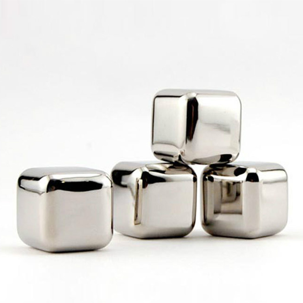 New Stainless Steel Whiskey Stones Rock Ice Cubes