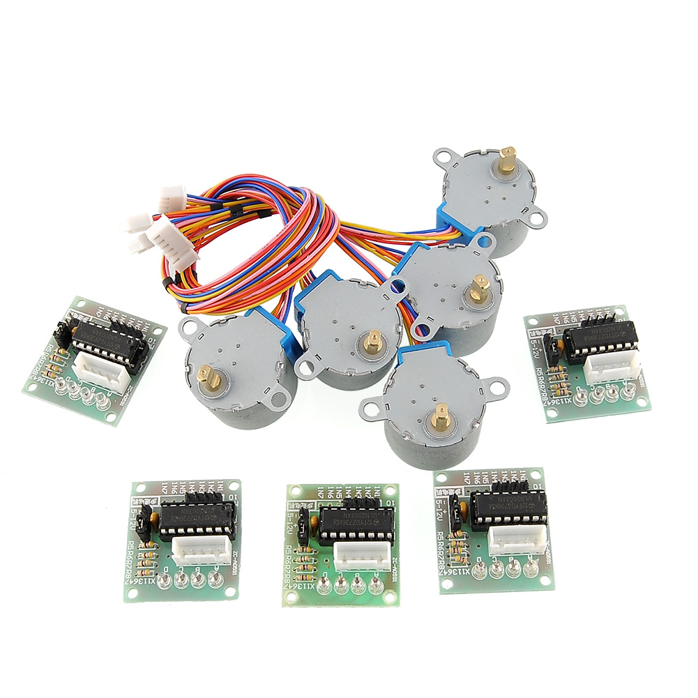5pcs-5V-Stepper-Motor-28BYJ-48-ULN2003-Driver-Module-Board-for-Arduino