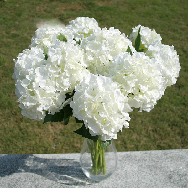 Faux artificial silk floral flower bouquet hydrangea party decor description perfect for your wedding daycake topperscraft projects or just make your own beautiful display increase more color and vitality to your life mightylinksfo