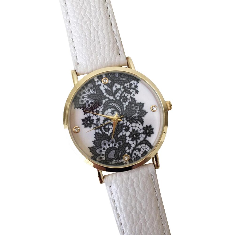 0F29-Lace-Print-Watch-Women-039-s-Ladies-Leather-Bracelet-Wrist-Watches-Black-Gift