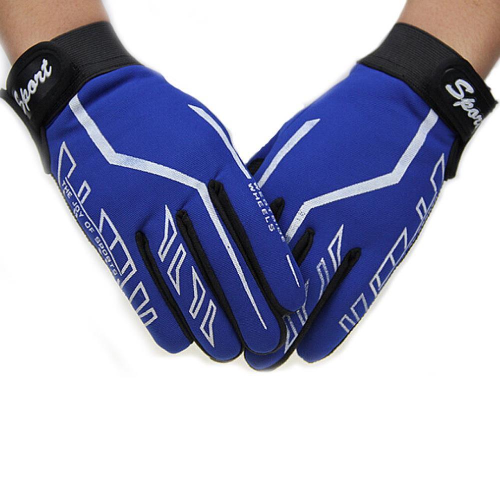 81719A2 Fashion Mens Full Finger Sport Gloves Exercise Fitness Gym Yoga Black