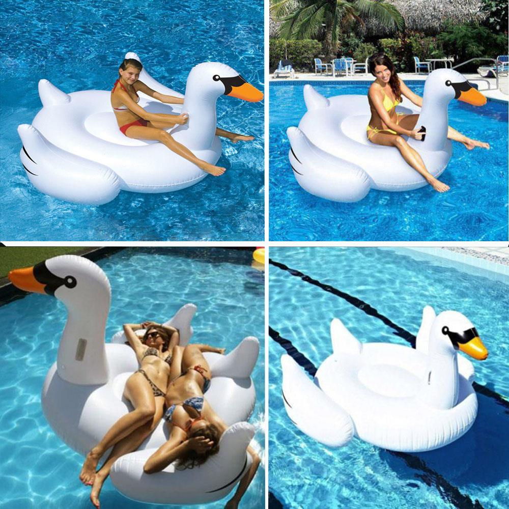 Giant Inflatable Swan U2013 White Pool Toy Inflatique Floating Ride On Float |  EBay