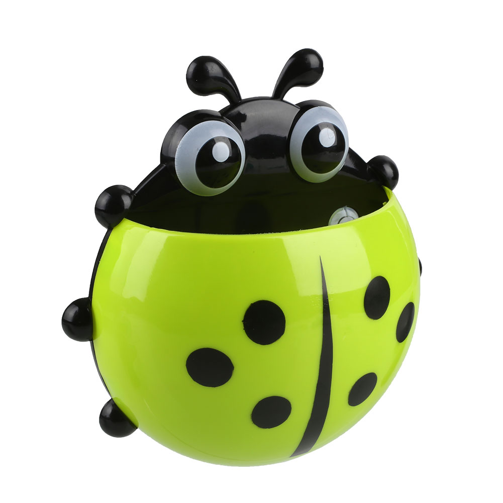 81A5-Cute-Portable-Animal-Sucker-Ladybird-Designed-Wall-Decor-Toothbrush-Holder