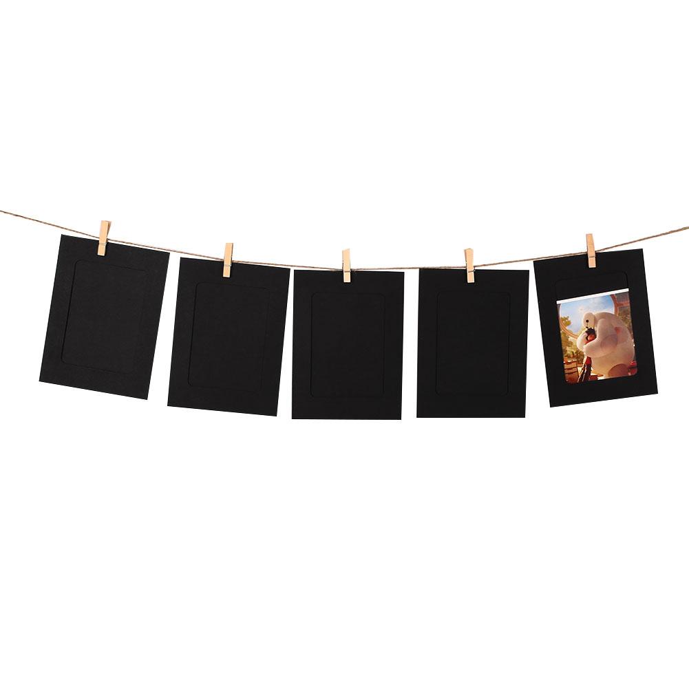 5984-10Pcs-Paper-Photo-Frames-Vintage-Frame-Photo-Picture-DIY-Frame